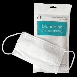 Mundbind type II hvidt