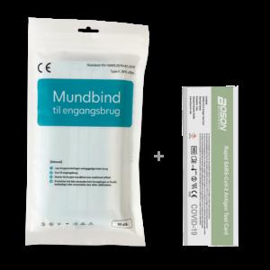 Mundbind med c0vid-19 test